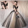 Doce 16 Custom Cinza Preto vestido de Baile Beading Até O Chão Vestidos Quinceanera Por 15 Anos Fora Do Ombro Lace Up