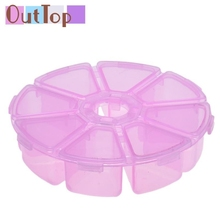 Brand  8 Grids Plastic Desktop Storage Box Makeup Tool Kits Dropship U0227