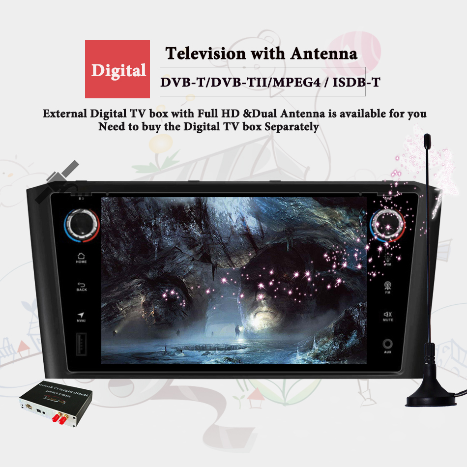 <font><b>Android</b></font> 9.0 RAM 4G Stock DVD Stereo Multimedia For <font><b>Toyota</b></font> Avensis/<font><b>T25</b></font> 2003-2008 Radio GPS Navigation Video Head Unit Casstte image