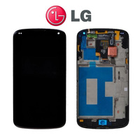 Original For LG Google Nexus 4 E960 LCD Display Screen With Touch Digitizer Assembly With Frame