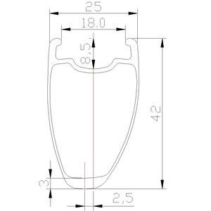 Image 2 - SUPER LIGHT 700C 380g 42mm Asymmetric Clincher Tubeless Ready Road Carbon Rims Holeless Disc Bike Wheel Tapeless Valve Hole Only