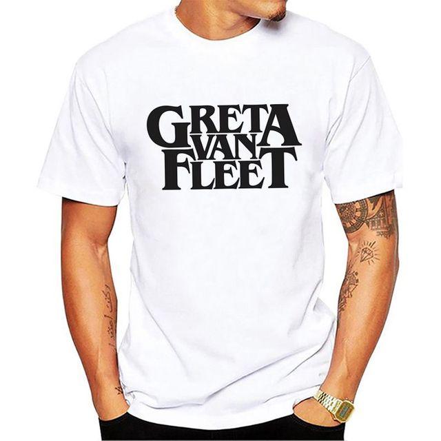 62e89aeafe71 Greta Van Fleet t shirt dos homens novos de verão tees camisa branca macia respirável  t