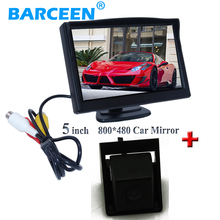 Colorful night vision car reserve parking camera black plastic shell with 5″ car monitor  for Korando for Ssangyong new Actyon