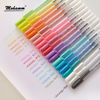 10 Pieces Aqualip Assorted Colors Cube Collection 3D Opaque Ink Pen Set Write On Glass Finger
