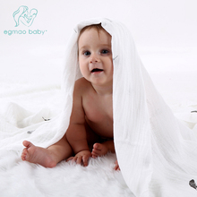 Genuine EGMAO BABY Muslin Baby Blanket Baby Swaddle 100% Cotton 120x120cm Envelope Wrap Newborn Super Soft Kids Bedding Diaper