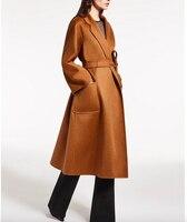 Obrix nouveau Style à la mode Long manteau pour les femmes 100% cachemire haute qualité chaud femme automne Trench