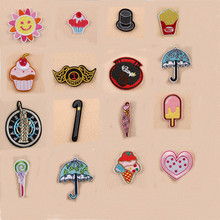 Cartoon Sun Umbrella Heart Cat Patch Embroidered Iron On Patches For Clothing Embroidery Design diy Accessories
