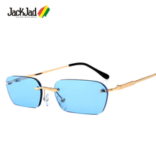 JackJad 2019 Fashion Modern Cool Rimless Style Rivets Sungla