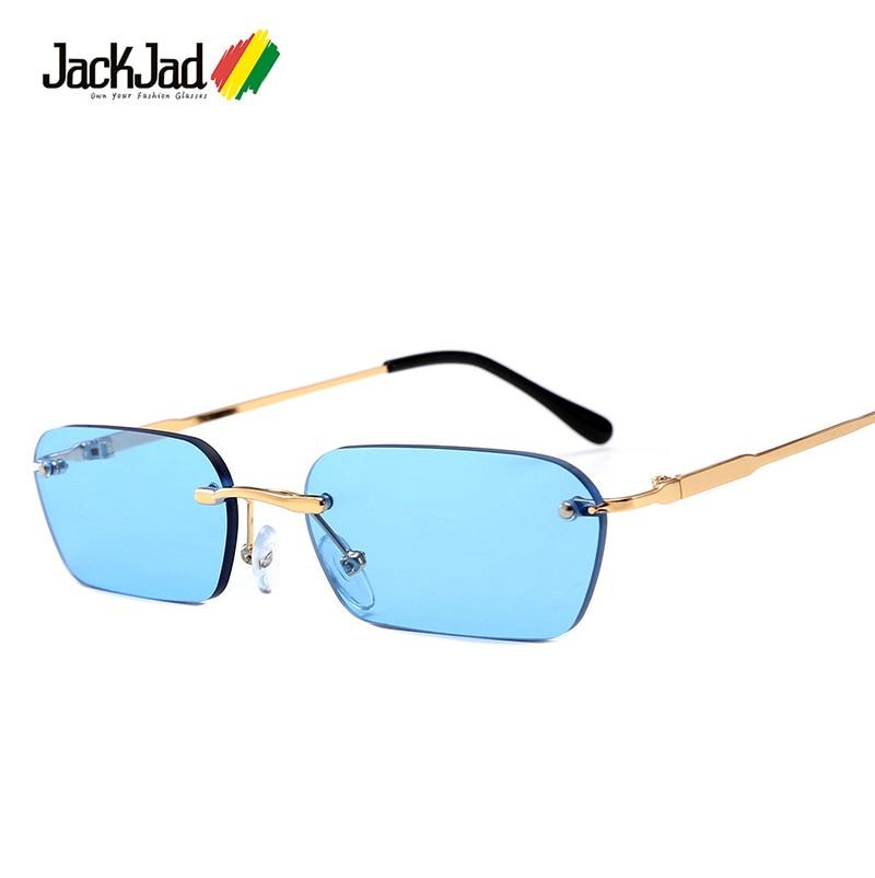 Jackjad 2019 moda moderno legal rimless estilo rebites óculos de sol matiz oceano lente design da marca óculos de sol óculos de sol 5509