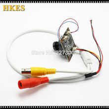 HKES 24pcs/Lot HD 2MP AHD Camera Module For Surveillance CCTV Camera with Bnc Port cable