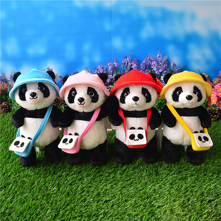 Lovely Panda Plush Toys 25cm Soft Big Eyed Stuffed Animals Bamboo Panda Kids Plush Toy For Children Gifts 25cm soft toy poodle pillow cartoon cute poodle dog plush toy fabric stitch stuffed plush dog animal toys for children gifts
