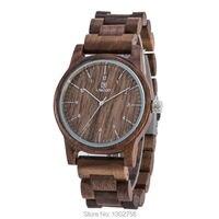 Uwood New Arrival Color Walnut Wood Watch For Men Women Fashion Gift Walnut Wooden MIYOTA Quartz