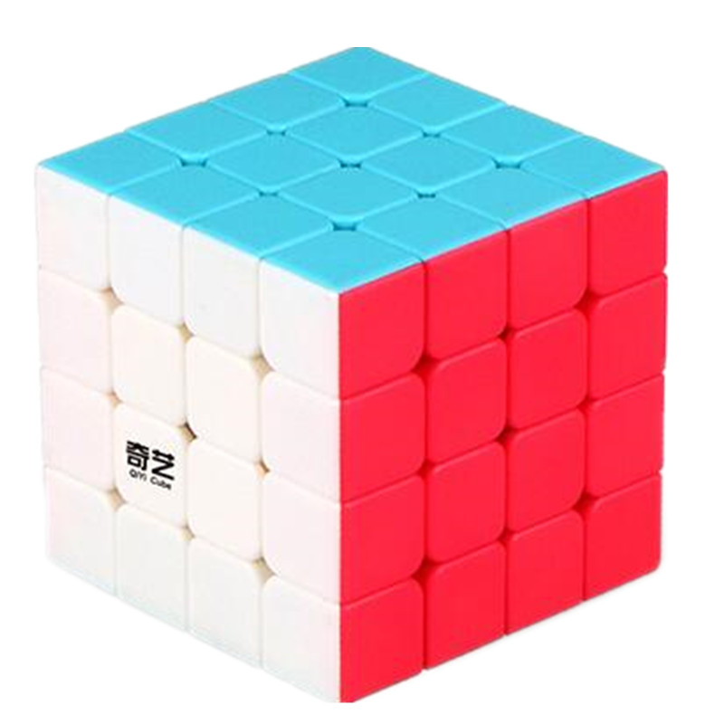 2017 New QiYi Yuan S Professional 4x4x4 4x4 Twist Magic Cube 6 Colors Stickerless Puzzle Cube Educational Toys Children Gift Toy