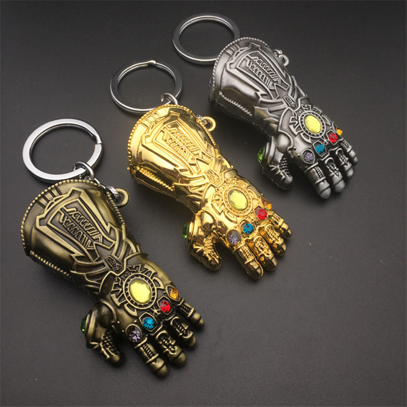 2018 Hot New Avengers Infinity War Thanos Infinity Gauntlet Gloves Cosplay Costumes Armor Model Keychain Accessories