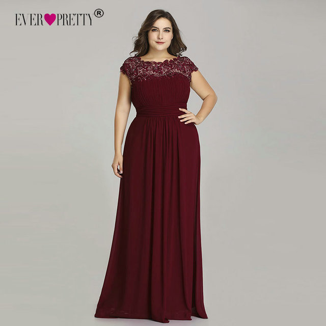 Ever Pretty Plus Size Evening Dresses 2018 New Arrival Elegant A