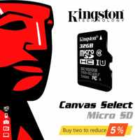 Original High Speed SDHC Kingston SD Card 16gb 32gb 64gb 128gb 256gb Micro SD Memory Card Class 10 Mini TFT 16 32 64 128 256 GB