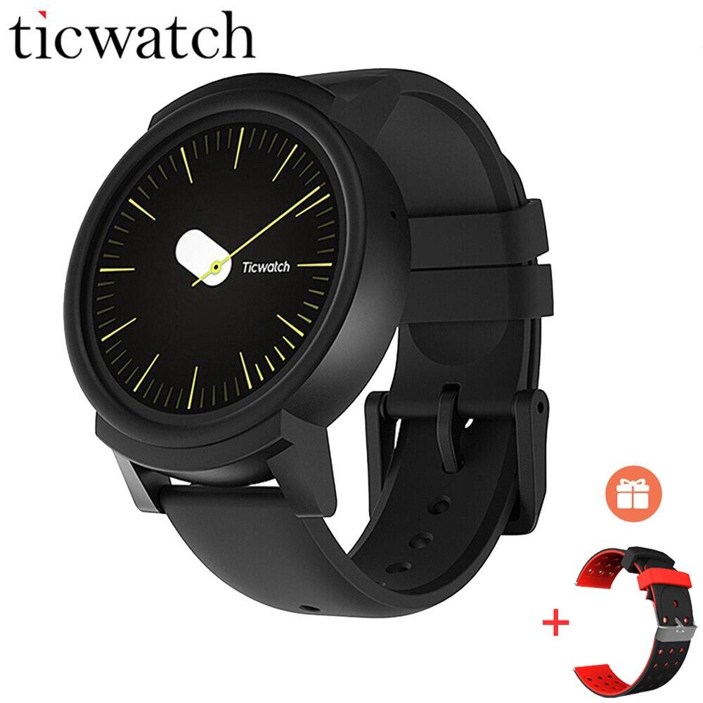Regalo de correa de Ticwatch E Expres reloj inteligente Android Wear OS Dual Core Bluetooth 4,1 WIFI GPS Smartwatch teléfono IP67 SmartWatch