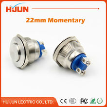 1pcs 22mm Waterproof Momentary High Round Stainless Steel Metal Push Button Switch Car Start Horn Speaker Bell Automatic Reset