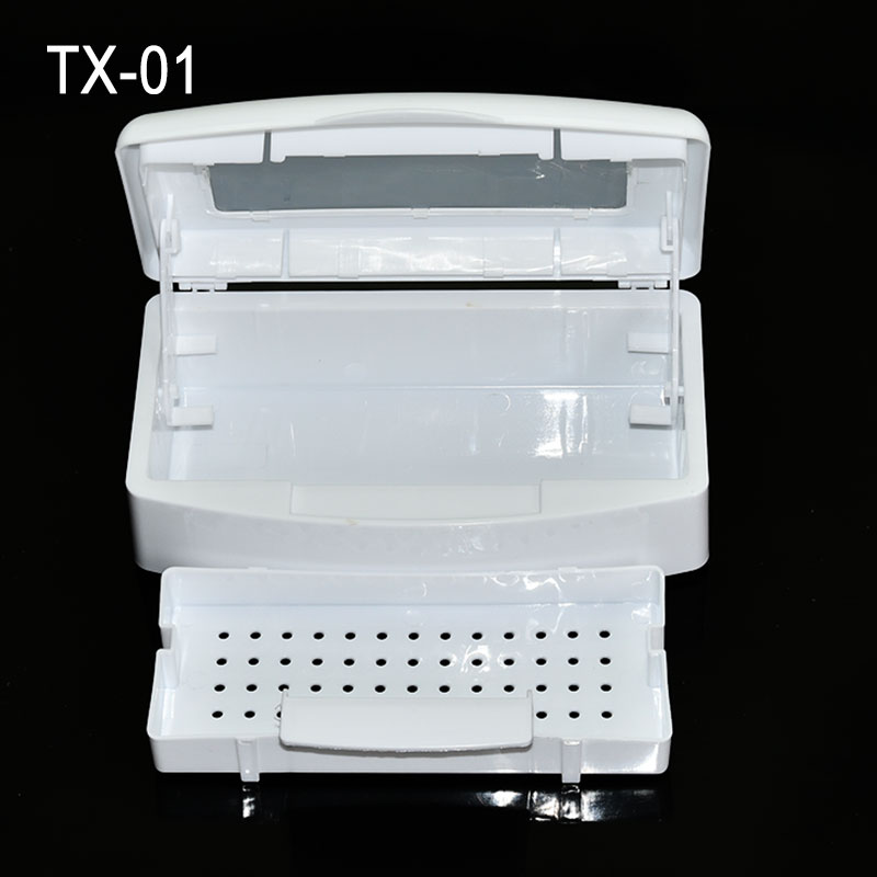 2018 New Arrival Nail Sterilizer Tray Disinfection Pedicure Manicure Tools Box Nails Art Boxes Sterilizing Salon Tools TX 01 in Nail Art Equipment from Beauty Health