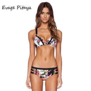 0c350f3e11 Evage pitaya brazilian bikini 2017 maillot de bain femme pink swimwear women