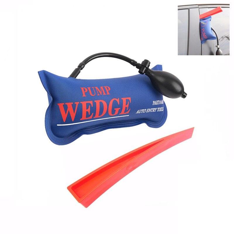 Populaire inflatble KLOM POMPE WEDGE OUTILS de SERRURIER Auto Air Wedge Airbag Serrure Pick Set Ouvert Serrure De Porte De Voiture