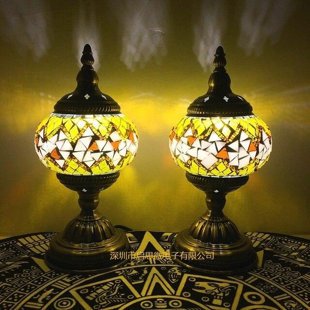 Mediterranean style art deco turkish mosaic table lamp handcrafted mediterranean style art deco turkish mosaic table lamp handcrafted mosaic glass romantic bed light mozeypictures Images