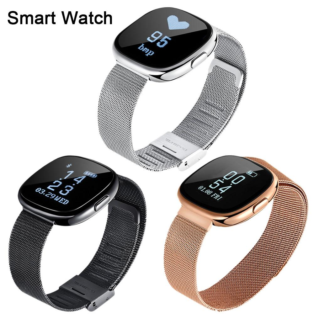 C2 Smart Bracelet Bluetooth À Puce Montre Bracelet Étanche Surveillance de Soutien de Fréquence Cardiaque Sang Pression Compteur de Pas