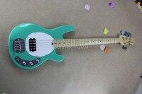 12 Hot Sale High Quality Ernie Ball Musicman Music Man Sting Ray 4 Strings Green Electric