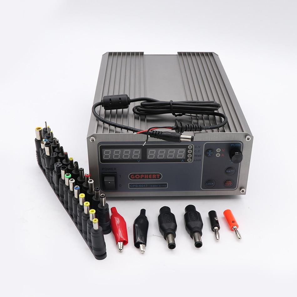 CPS-6017 обновленная версия 1000 Вт 0-60 В/0-17A, высокая Мощность цифровой регулировкой Питание CPS6017 220 В