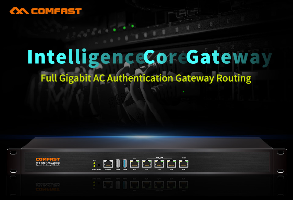 Comfast CF-AC200 full Gigabit AC Authentication Gateway Routing MT7621 880Mhz Core Gateway wifi project manager 5*1000Mbps ports comfast ac200 orange os system full gigabit wifi control ac gateway routing wireless roaming wifi coverage project manager route