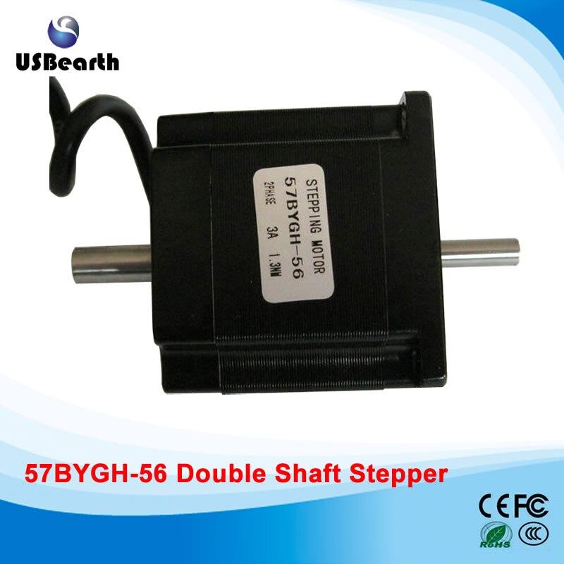 57 stepper motor 57BYGH-56 3A stepper motor drive long 1.3N.m 56mm cnc engraving machine rc2604h stepper motor drive 578 586