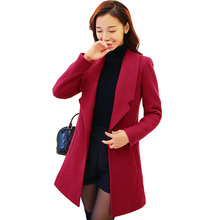 Hot Sale 2017 Woman new Wool Coat High Quality Winter Jacket Women Slim Woolen Long Cashmere Coats Cardigan Jackets Elegant 3L22