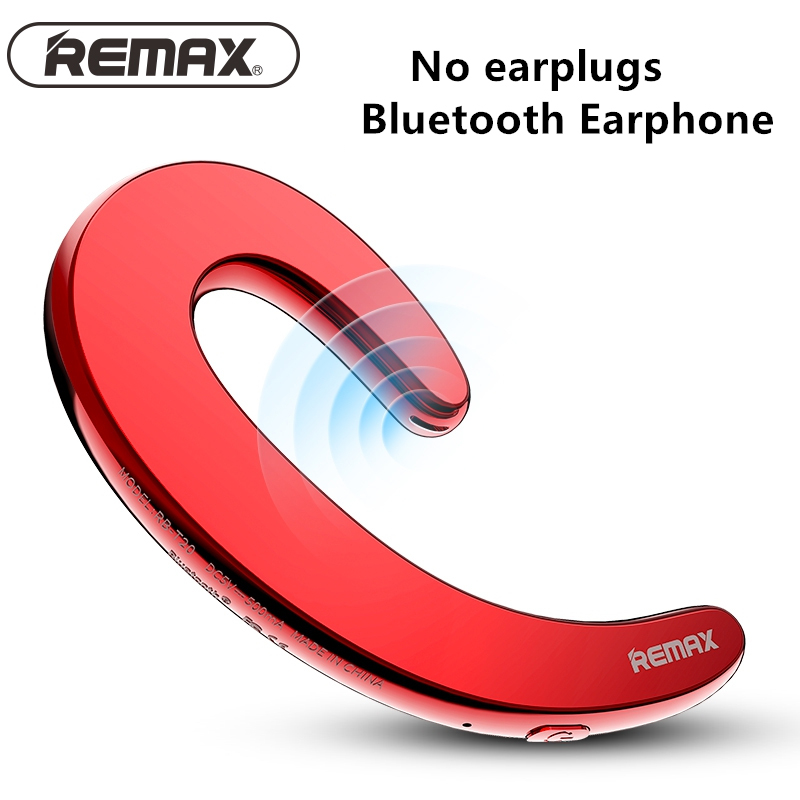 Remax Ultra-thin Bluetooth Earphone No Earplugs Design Wireless Stereo Bluetooth Headset With Mic ouvido music For xiaomi Phone remax 2 in1 mini bluetooth 4 0 headphones usb car charger dock wireless car headset bluetooth earphone for iphone 7 6s android