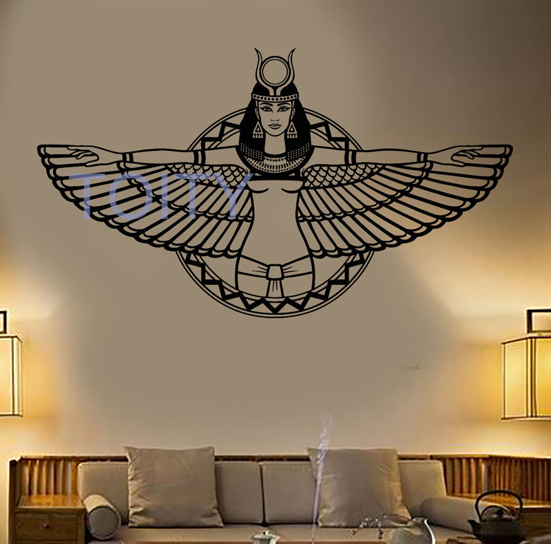 Ancient Egypt Queen Cleopatra Egyptian Wings Vinyl Wall ...