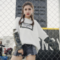 [XITAO] 2017 new summer Korea fashion false two pieces street wind women long sleeve loose pullover Round collar T-shirts MMJ005