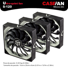 ALSEYE computer fan 3pieces 120mm fan cooler 1200RPM 3 pin water cooler fan radiator DC 12v silent fan for computer case