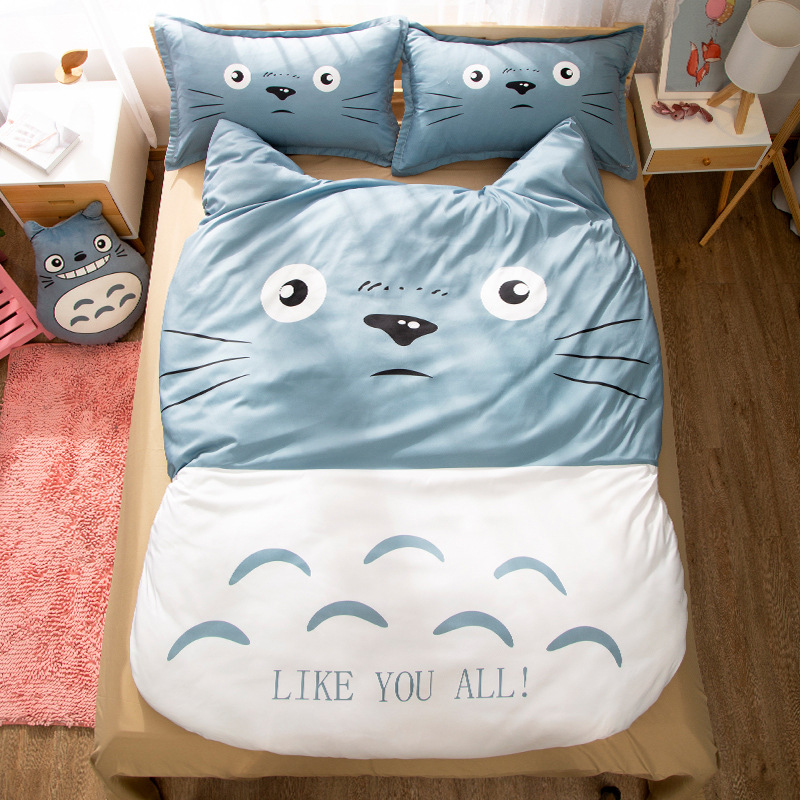 New Totoro 3Pieces Polyester Bedding Sets  2