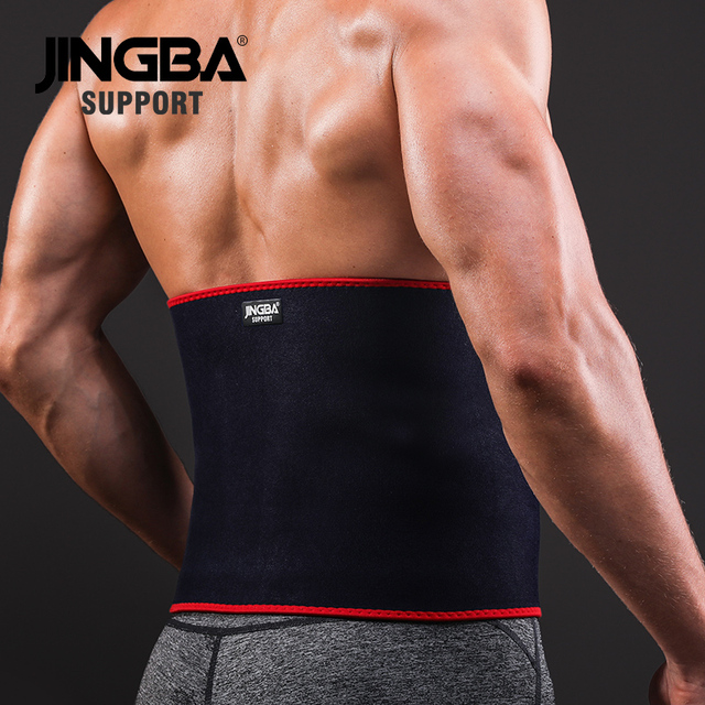 JINGBA SUPPORT Waist trimmer Slim fit Abdominal Waist sweat belt Professional Adjustable Waist back support belt Fitness Equipme 2
