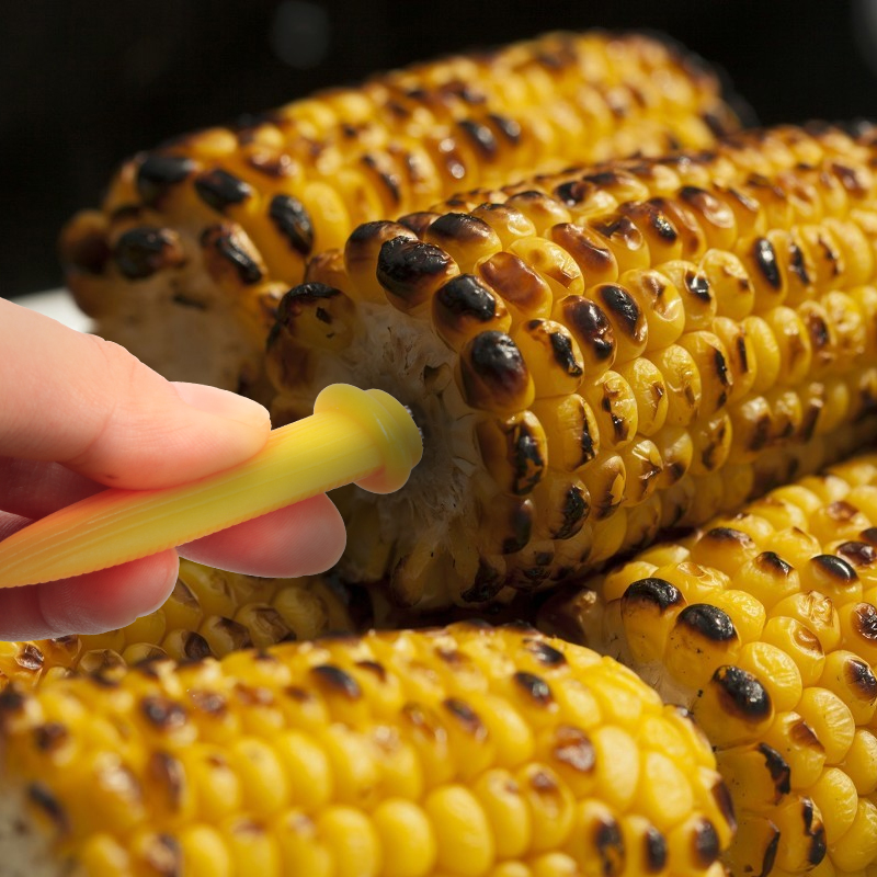1pcs Corn Holders Skewers Needle Fork For BBQ Garden New B0R5 Hand Tool W4F5