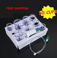 Cheap 10pcs hijama  cups chinese vacuum cupping kit pull out a vacuum apparatus therapy relax massagers curve suction pumps