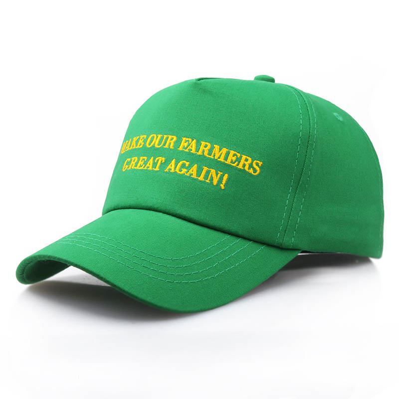 100% Cotton MAKE OUR FARMER GREAT AGAIN Trump Cap Baseball Cap Casual Hat Snapback For President Sun Hat Trucker hat Adjustable
