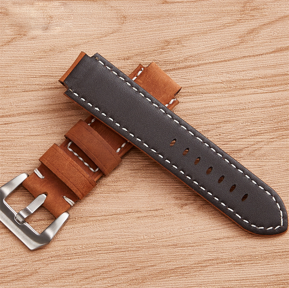 111e6773ce91 Genuine Leather Watchband for Timex T49859