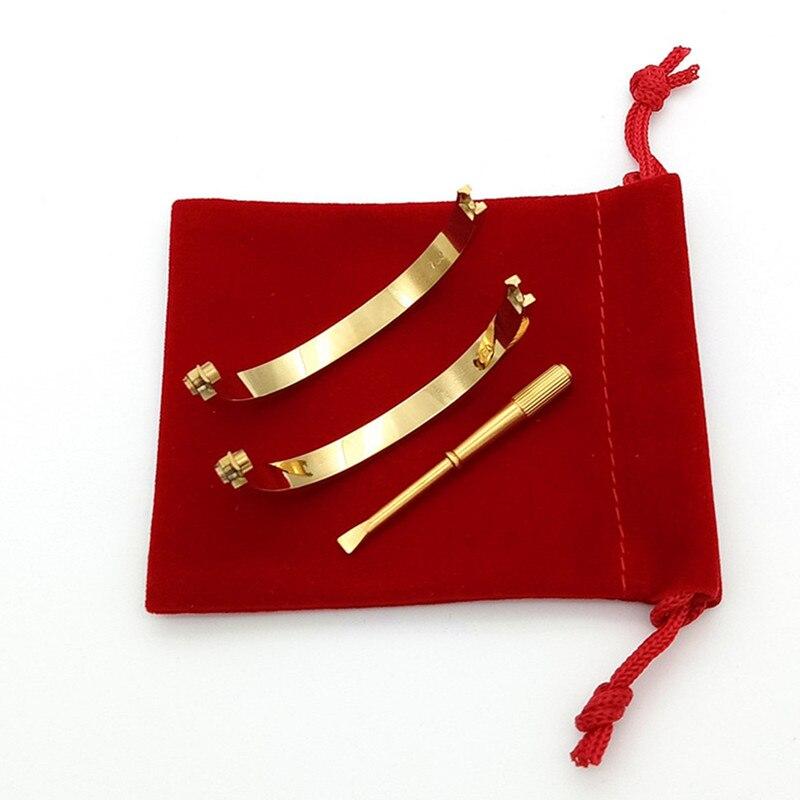 Selling 17-21cm 316L Stainless Steel carter love bracelet Screwdriver Bracelet Women Men cuff Bangle Pulseira Feminina Masculina