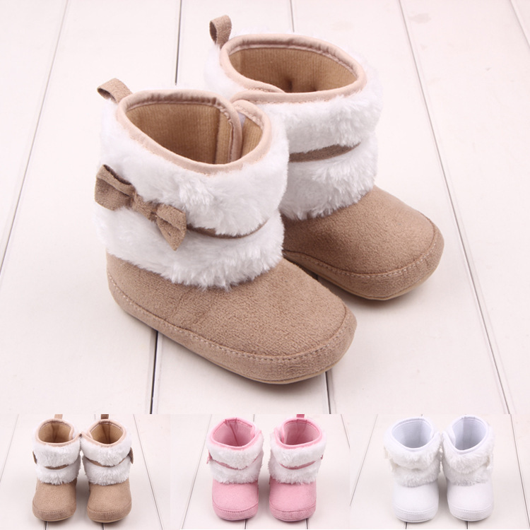 Free Shipping 1pair FASHION First walkers Snow Boots Winter warm, Boy/Girl Kids Shoes, prewalker Kids toddlers/Newborn shoes