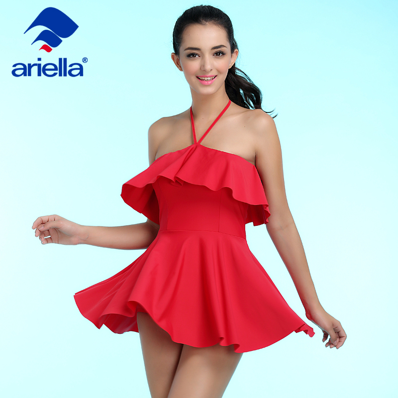 088b9769a41 2017 Sale New Sexy Skirts Women One Piece Swimsuits Cute Bathing Suits Modest  Swim Wear Monokini Jumpsuits Ari 24f 5108 -in Body Suits from Sports ...