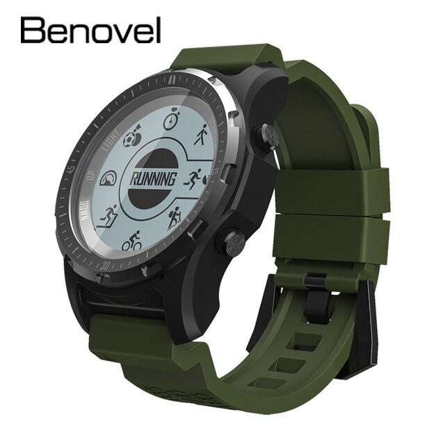 Benovel S66 Men GPS Sport Watch Bluetooth Smart Watch Heart Rate Monitor Tracker Outdoor Running Waterproof Smartwatch