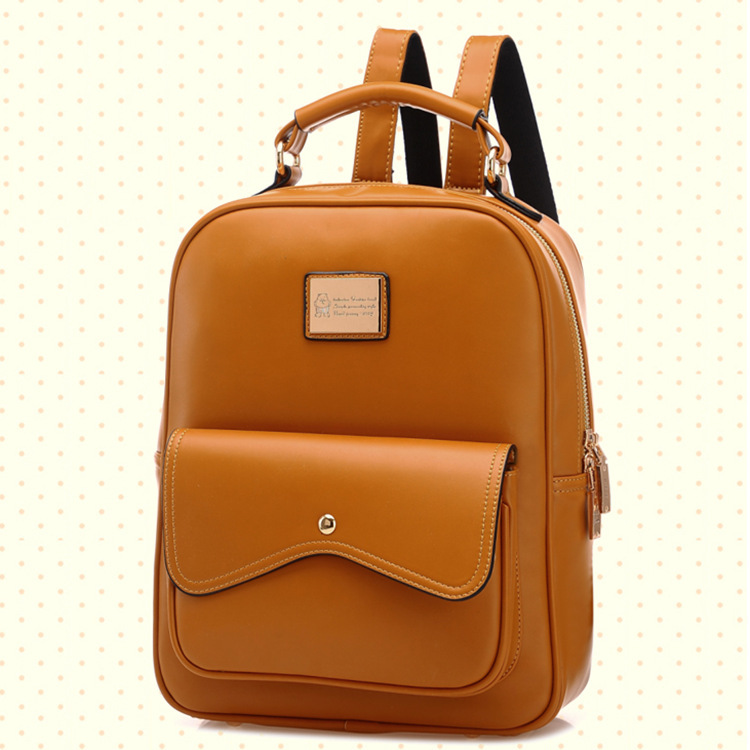 e59b4b7d1b Fancy Women Leather Backpack 2015 New Solid Backpacks for Teenage Girls  Popular Double Shoulder Bags Carteira Feminina-in Backpacks from Luggage    Bags on ...