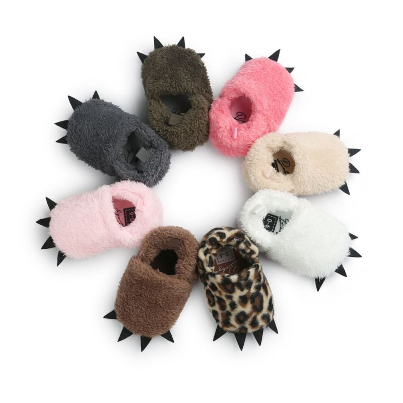 Baby Boys Girls Shoes Winter Warm Shoes Newborn Boots Moccasins Shoes Monster Claw Crib Booties Infant Indoor Shoes