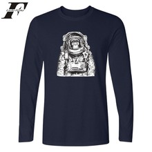 LUCKYFRIDAYF Space Orangutan Long Sleeve T font b shirt b font New Arrival font b Shirt