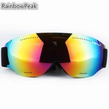 Single layer ski goggles large spherical glasses myopia outdoor Snowboarding mountain climbing riding Skiing Eyewear